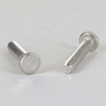 3/4in Long - 8/32 Thread Polished Nickel Finish Thumb Screw
