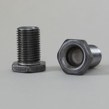 3/4in Long thread  X 1/8ips. Male Threaded Steel Hex Head Nipple