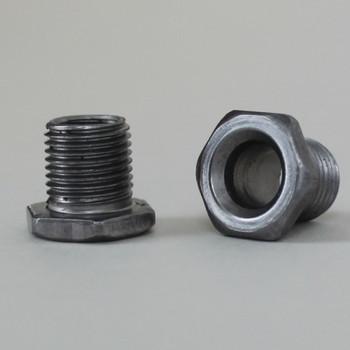 3/8in Long thread X 1/8ips. Male Threaded Hex Head Steel Nipple