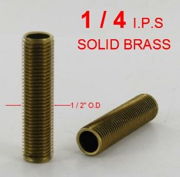 1/2in. X 1/4ips. Threaded  Brass Hollow Nipple