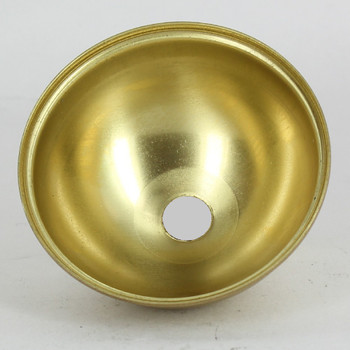 2-1/2in. Diameter Half Ball - Outer Piece - 1/8 ips. Slip - Unf. Brass