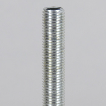 1-1/4in Long 5/16-27 UNS Fully Threaded Hollow Nipple - Zinc Plated Steel