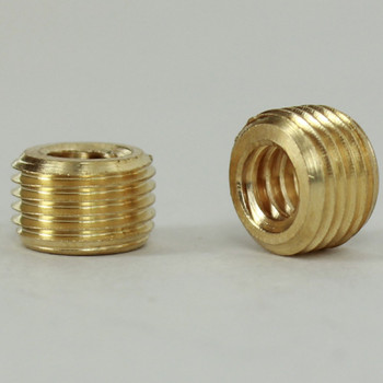 1/4-20 UNC Female Threaded X 1/8ips. Male Threaded Unfinished Brass Reducer without Shoulder