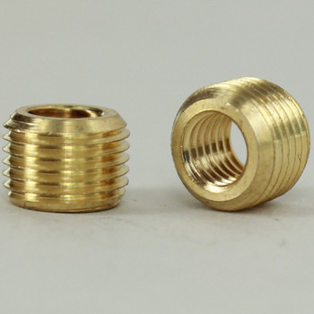 1/4-27 Female X 1/8ips. Male Thread Unfinished Brass Reducer without Shoulder