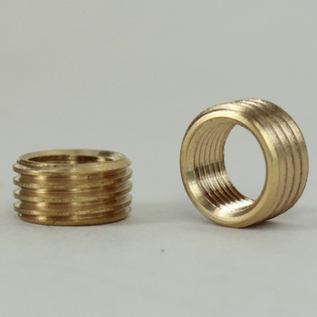 1/8ips. Female X 1/4ips. Male Thread Unfinished Brass Reducer without Shoulder