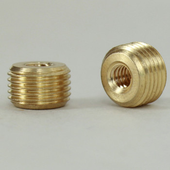 8/32 Female X 1/8ips. Male Thread Unfinished Brass Reducer without Shoulder
