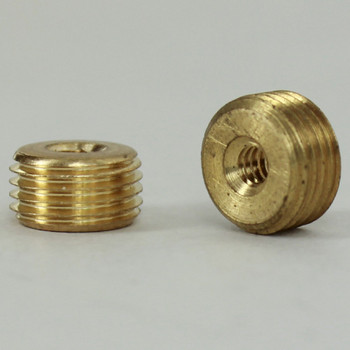 6/32 Female X 1/8ips. Male Thread Unfinished Brass Reducer without Shoulder