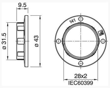 43mm Diameter Large Ring For 3000 Series Sockets - White