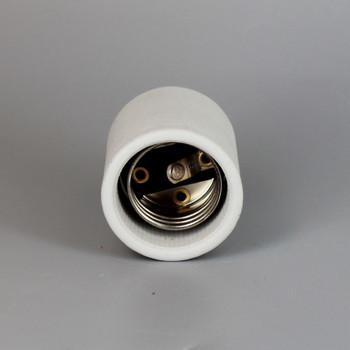 2 Piece Porcelain Husk Bottom Turn Knob Socket with Wire Way