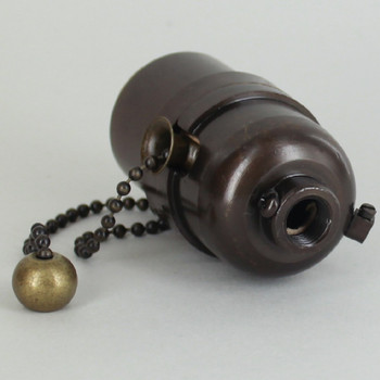 Pull Chain Smooth Shell Cast Lamp Socket - Oil Rubbed Bronze