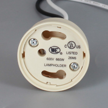 GU24 LED/CFL Lamp Socket with 1/8ips. Female Hickey and 60in. Leads