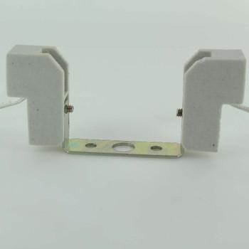 78mm T-3 Short Halogen Porcelain Socket with 6in. Leads