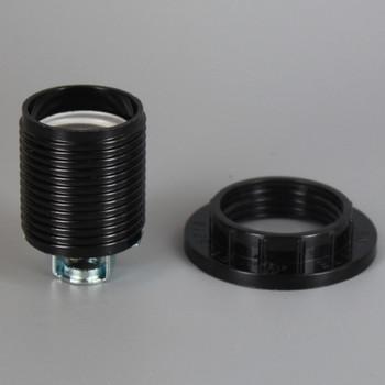 E-26 Black Threaded Skirt Phenolic Socket With 1/8IPS Threaded Hickey
