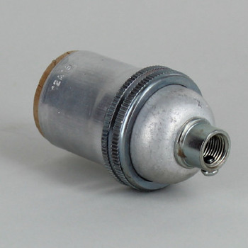 E-26 Keyless Socket with 1/8ips. Female Threaded Cap - Unfinished Aluminum