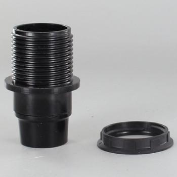 E14 Black Threaded Skirt with Shoulder Phenolic Lamp Holder with 1/8ips Threaded Cap
