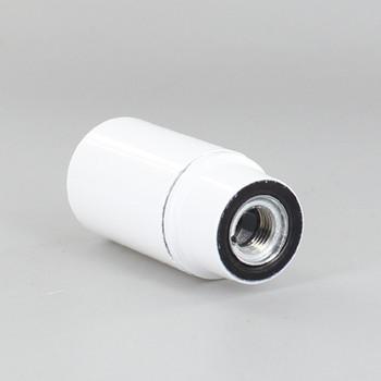 E14 White Smooth Skirt Phenolic Lamp Holder with 1/8ips Metal Bushing
