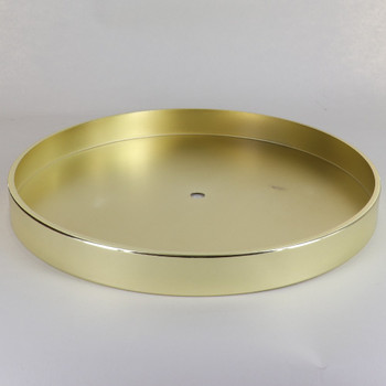 1/8ips Center Hole - 10in Flat Canopy/Base without wire way - Brass Plated