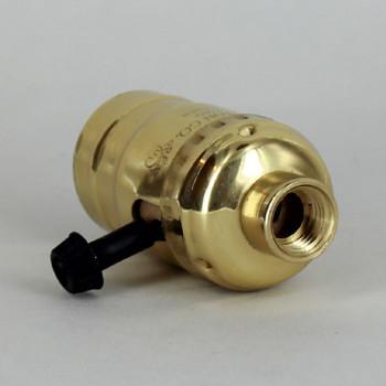 Medium Base Metal Shell Removable Turn Knob Socket With 1/4ips Female Threaded Bushing