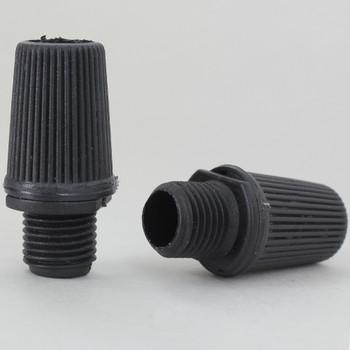 1/8ips. Male Threaded Plastic Strain Relief - Black
