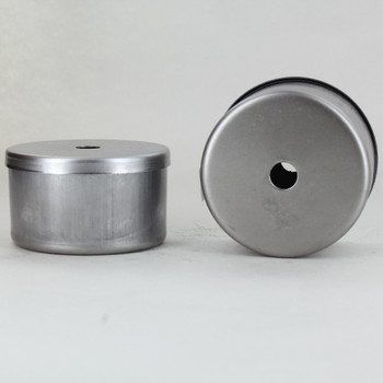 2-1/2in Diameter X 1-1/2in Height Blank Side Hole Unfinished Steel Body with Cap