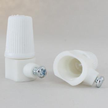 1/8ips. Female Threaded Plastic Strain Relief - White