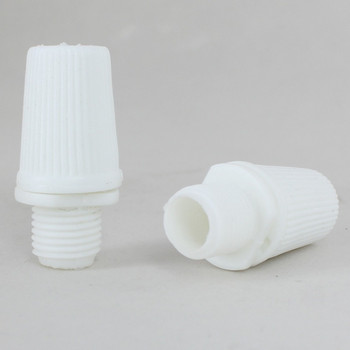 1/8ips. Male Threaded Plastic Strain Relief - White