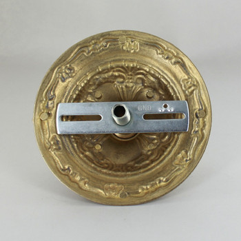 1-1/16in Center Hole - Cast Brass Victorian Canopy Kit - Unfinished Brass