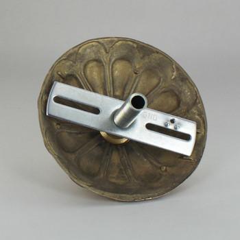 1-116 Center Hole - Cast Brass Arch Canopy Kit - Polished Brass