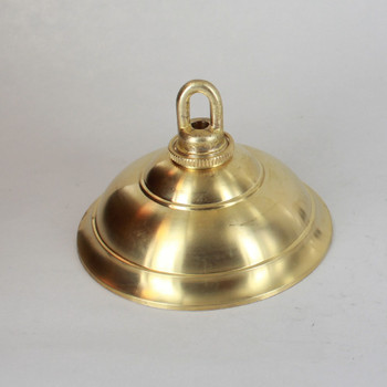 1-1/16in Center Hole - Cast Brass Tapered Canopy Canopy Kit - Unfinished Brass