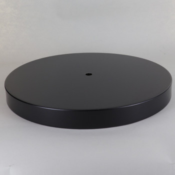 1/8ips Center Hole - 10in Canopy/Flat Base Without Wire Way - Black Finish