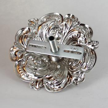 1-1/16in Center Hole - Cast Brass Swirl Canopy Kit - Polished Nickel Finish