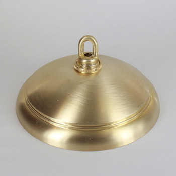 1-1/16in Center Hole - Cast Brass Ringed Canopy Kit - Unfinished Brass