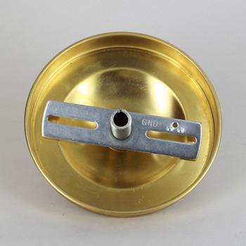 1-1/16in Center Hole - Plain Spun Canopy Kit - Unfinished Brass