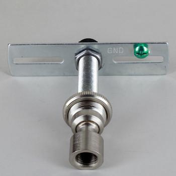 1/4ips. Pipe Pendant Hanging Cross Bar Set - Brushed/ Satin Nickel Finish