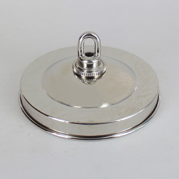 1-116in Center Hole - Plain Spun Canopy Kit - Nickel Plated Finish