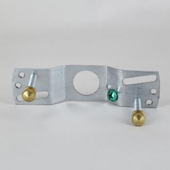 2-3/4in Barhole Canopy Crossbar Kit - Unfinished Brass