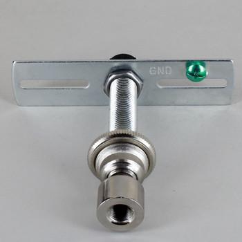 1/8ips. Pipe Pendant Hanging Cross Bar Set - Polished Nickel