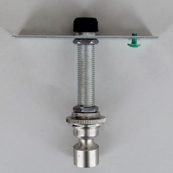 1/8ips. Pipe Pendant Hanging Cross Bar Set - Satin/ Brushed Nickel