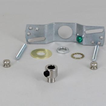 2-3/4in Bar Hole SVT Wire Pendant Hanging Cross Bar Set - Polished Nickel Finish