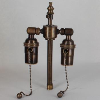 5in. Bottom Stem Antique Brass Finish Pull Chain Cluster