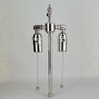 9in. Bottom Stem Nickel Plated Finish Pull Chain Cluster