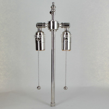 10in. Bottom Stem Nickel Plated Finish Pull Chain Cluster