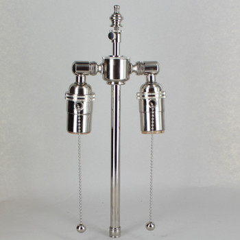 8in. Bottom Stem Nickel Plated Finish Pull Chain Cluster