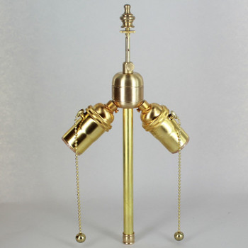 7in. Bottom Stem Unfinished Brass Pull Chain PA Cluster