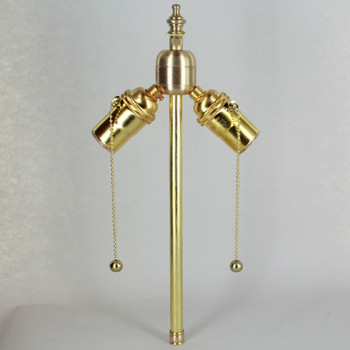 10in. Bottom Stem Unfinished Brass Pull Chain PA Cluster