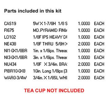 TEA CUP BIRD FEEDER KIT