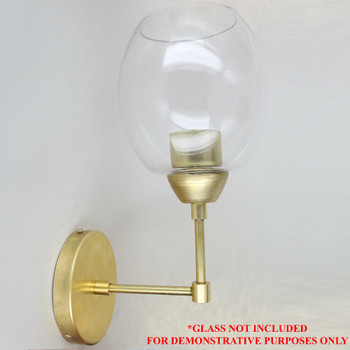 One Light Wall Sconce Kit for 1-5/8 Glass Shades Unfinished Brass - You Assemble Yourself and Save!