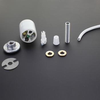 Lamp Shade Pendant Hanger Socket Kit - White