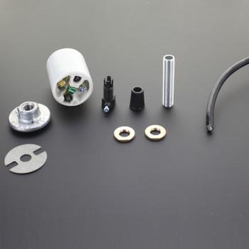 Lamp Shade Pendant Hanger Socket Kit - Black