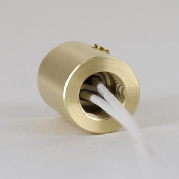 G4 Base Porcelain Lamp Socket with 1/8ips Threaded Brass Skirt